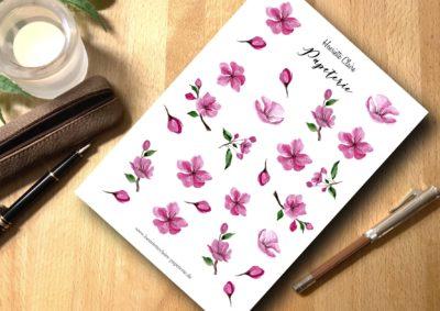 Aufkleber Sticker Planer Sakura Kirschblüten rosa