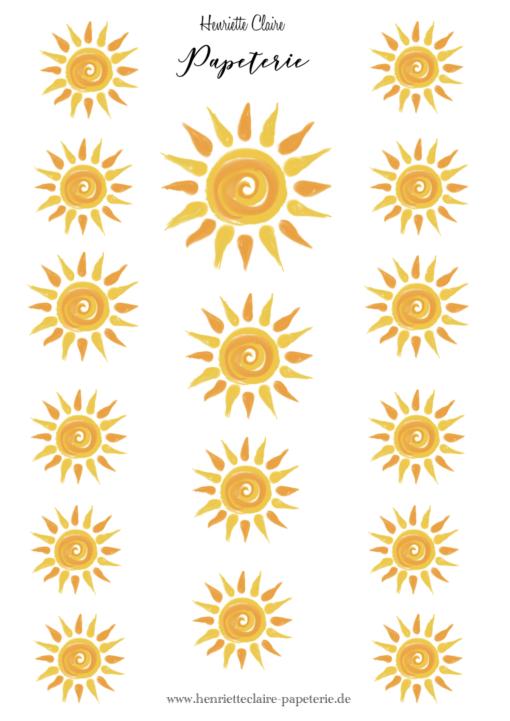 Aufkleber Sonne