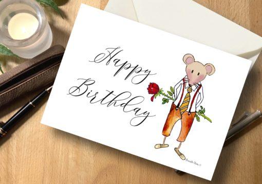 Karte Maus Happy Birthday