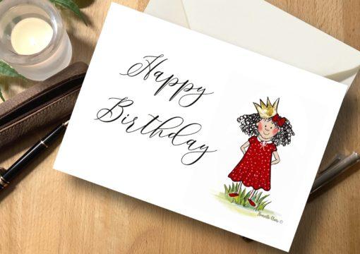 Karte Prinzessin Happy Birthday