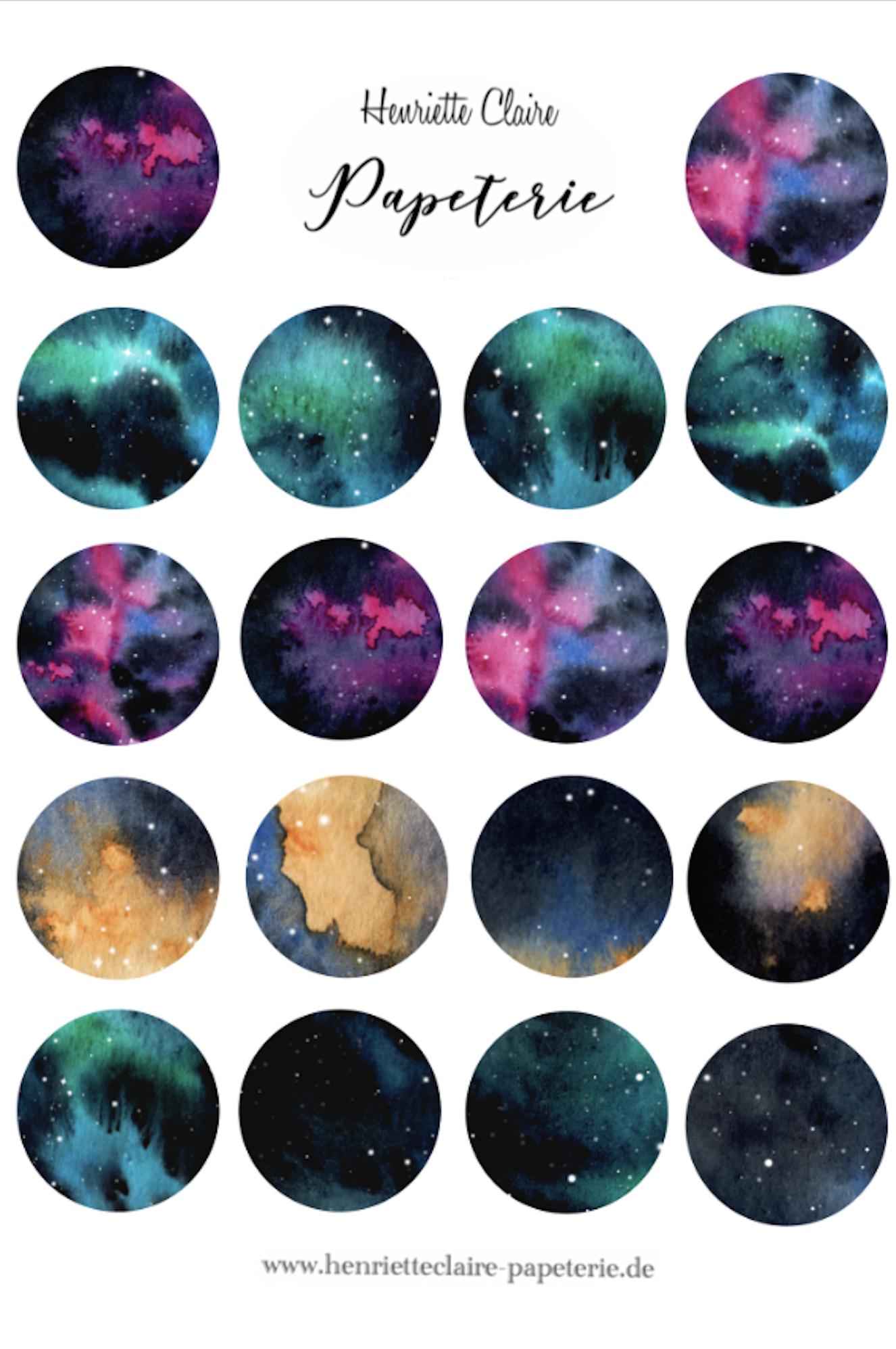 Magic Moons Aufkleber