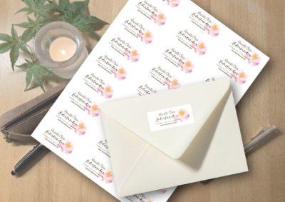 Adressaufkleber Seerose Sticker persönlich Rose Absender