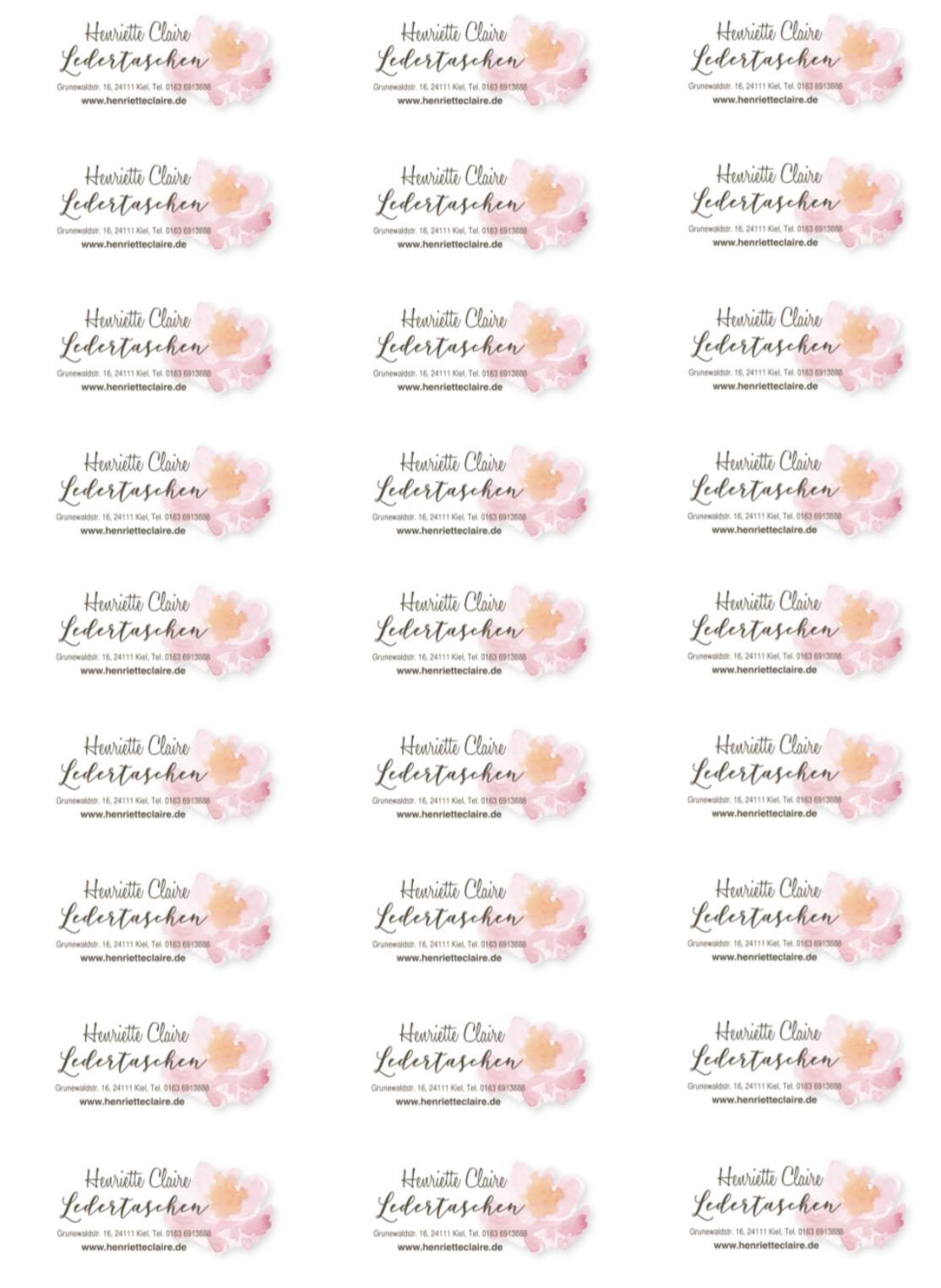 Henirette Claire Adressaufkleber rosa