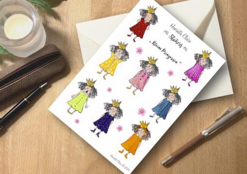 Aufkleber Prinzessinnen bunt henriette claire bullet journal