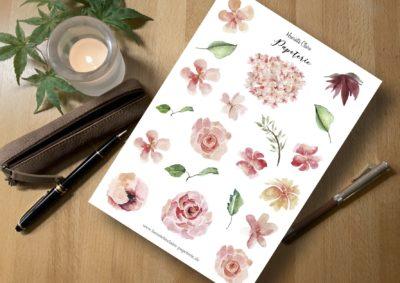 Aufkleber Rosen rosé zart Sticker Henriette Claire