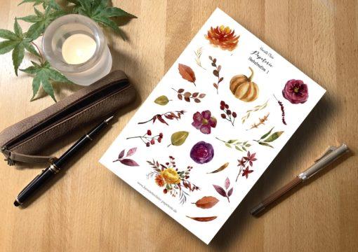 Herbstmotive Aufkleber Herbstblätter 1 Henriette Claire