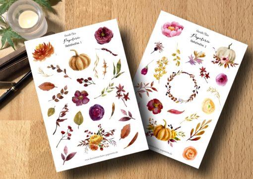 Herbstmotive 1 und 2 aquarell
