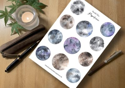 Mystische Monde11 Magic Moons Aufkleber Sticker