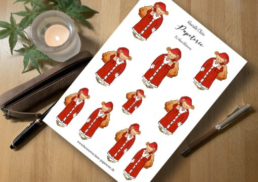 aufkleber Weihnachtsmäuse Weihnachtsmänner sticker
