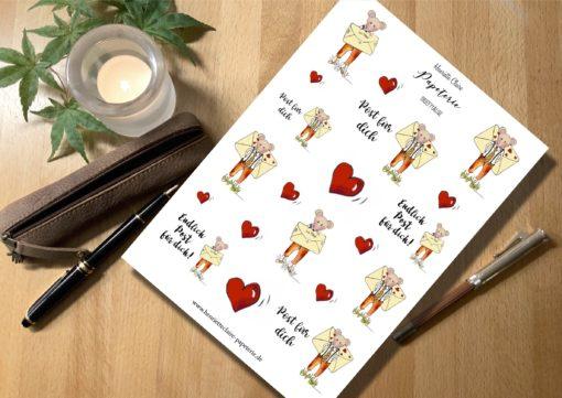 Aufkleber für Liebesbriefe