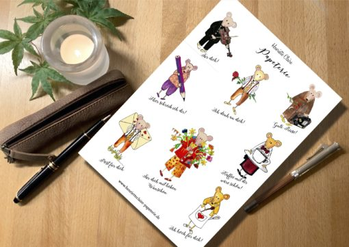 Sticker für Briefe und Geschenke mit Mäusen