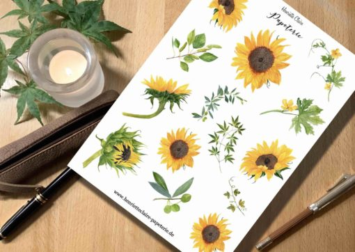 Aufkleber Sonnenblumen