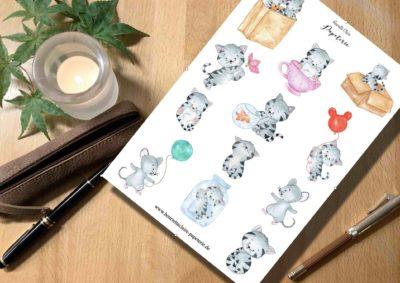 Süße Kätzchen Aufkleber