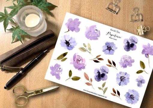 Blüten violett Aquarell Watercolor flowers