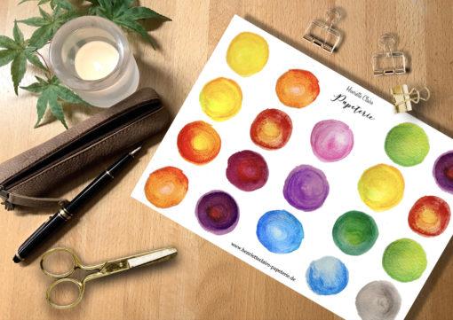 Aufkleber 19 Farbkleckse Aquarell