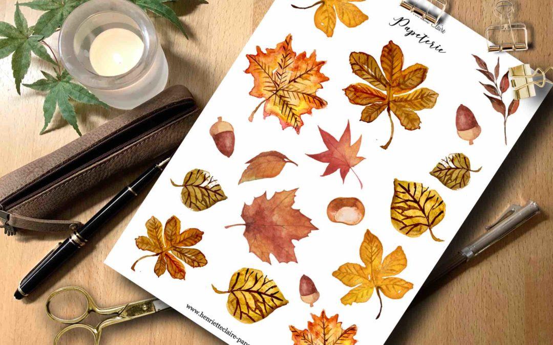 Sticker Herbstblätter Aquarell 🍁