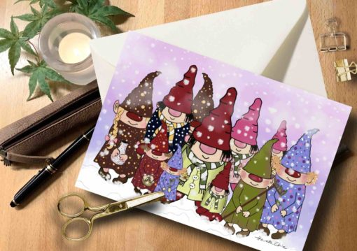 Karte Weihnachten Wichtel