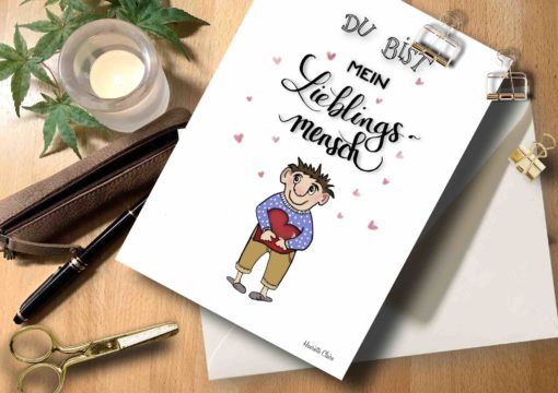 Briefkarte für Lieblingsmensch