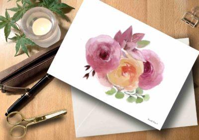 Briefkarte Rosen